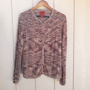 Missoni for Target Cardigan Zigzag Pleated Shimmer